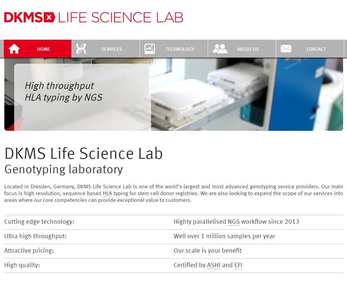 Neue Homepage des DKMS Life Science Lab